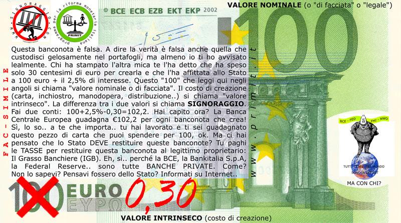 >>> SIGNORAGGIO BANCARIO >>>
