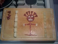 composizione salame formaggio