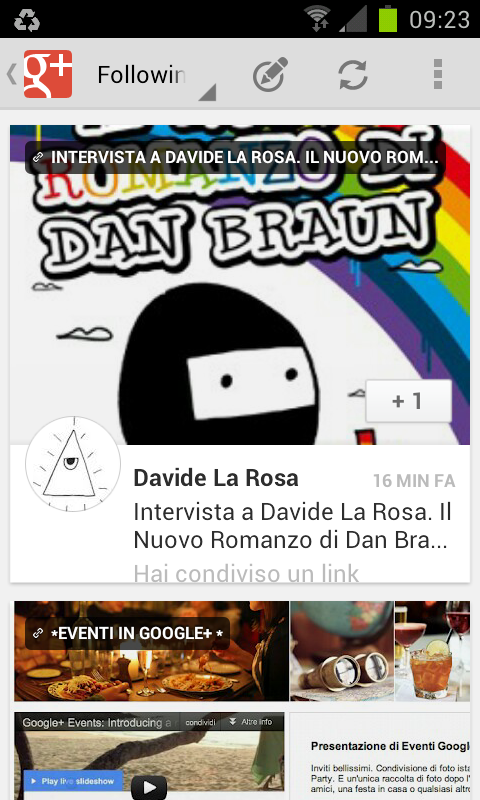 google+ mobile android
