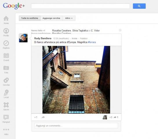 google plus rudy bandiera