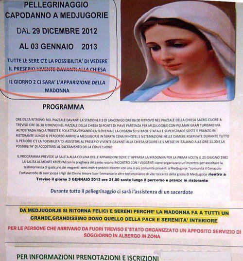 Medjugorje la Madonna