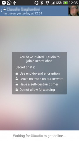 secret chat telegram