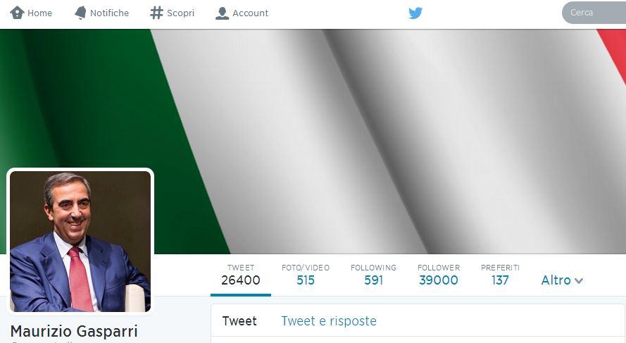 -Maurizio Gasparri (gasparripdl) su Twitter