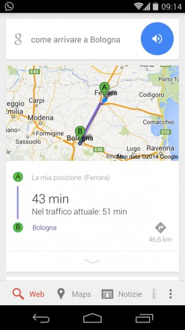 come arrivare a google now ok google