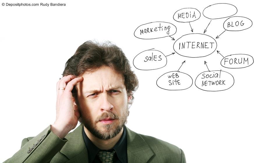 pensare riflettere marketing online