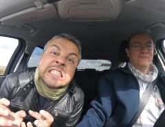 rudy e skande in macchina