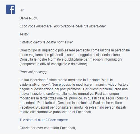 facebook ads negata