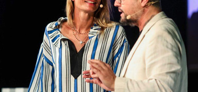 Rudy Bandiera con Maurizia Cacciatori