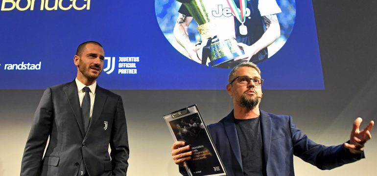 Rudy Bandiera con Bonucci allo Juventus Stadium