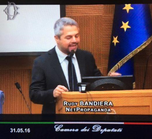 Rudy Bandiera in Parlamento, alla Camera dei Deputati