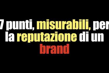 misurare la reputazione di un brand
